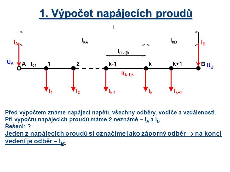 1. Výpočet napájecích proudů