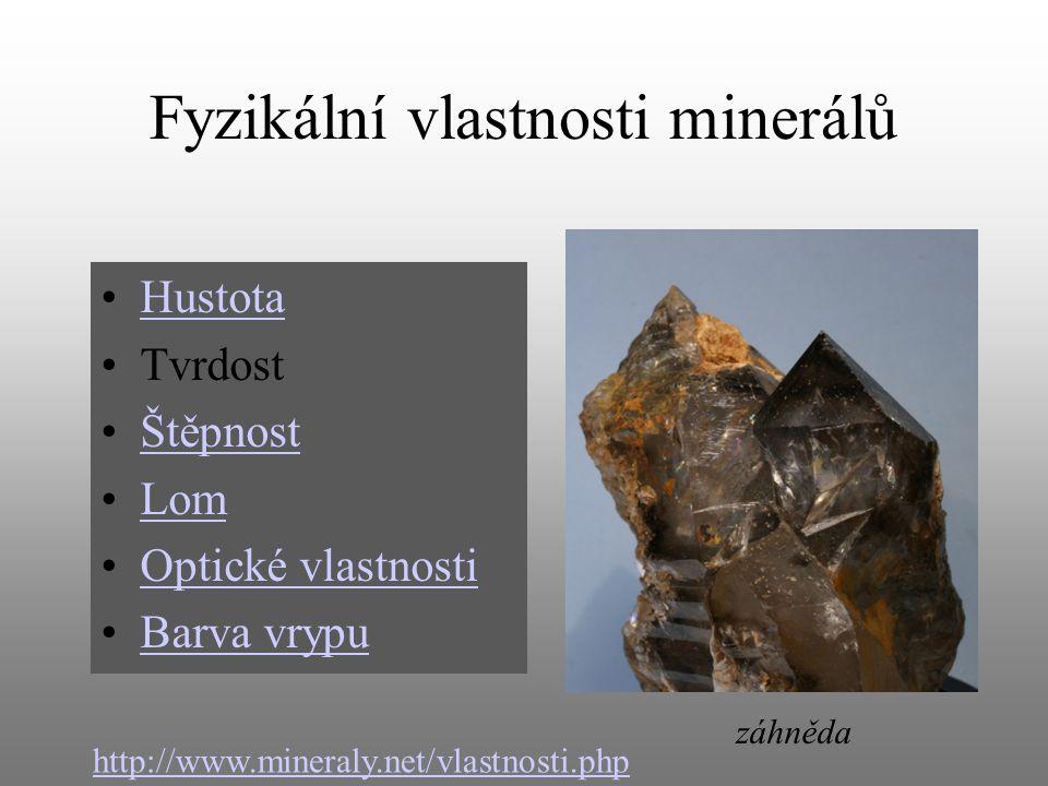 Fyzikální vlastnosti minerálů