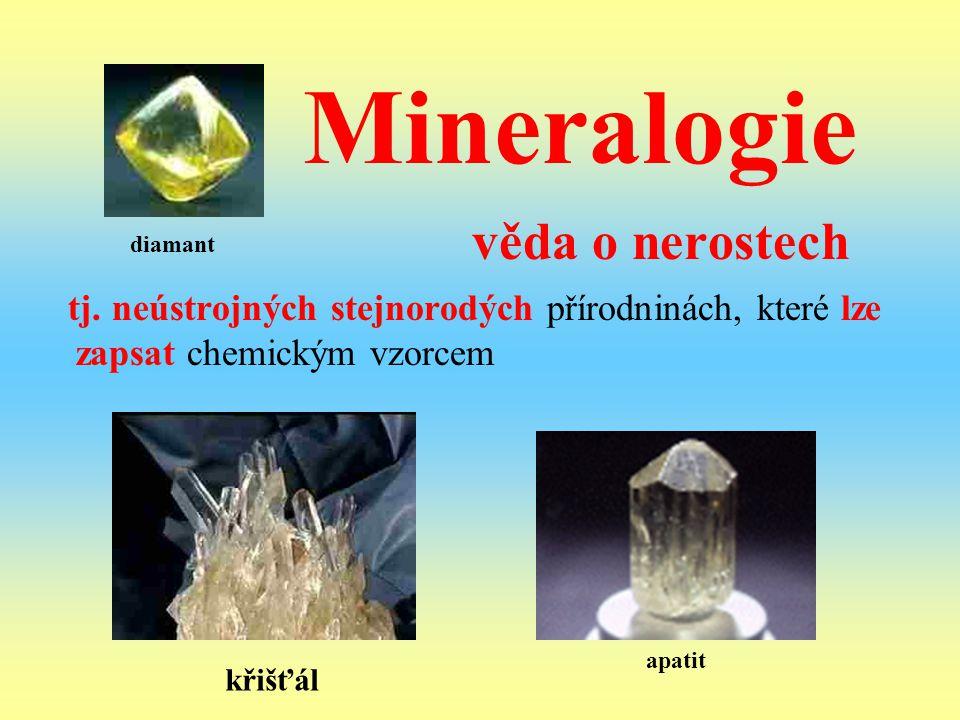 Mineralogie věda o nerostech
