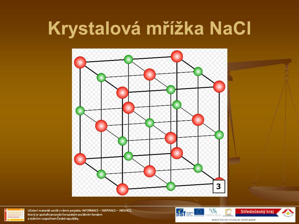 Krystalová mřížka NaCl
