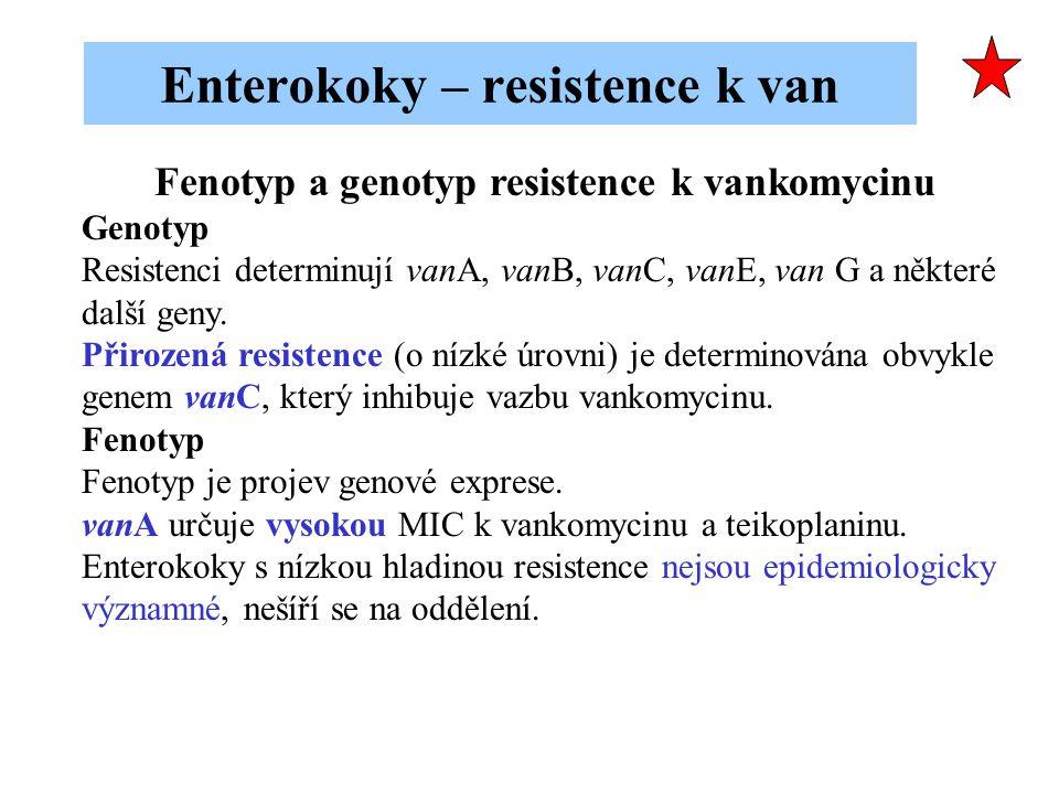 Enterokoky – resistence k van
