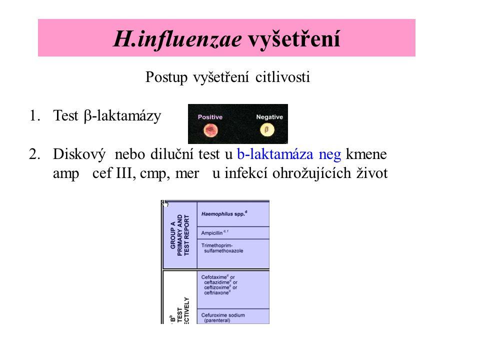 H.influenzae vyšetření