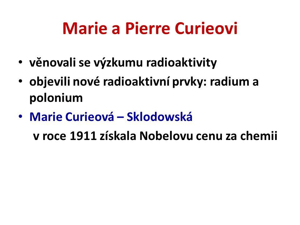 Marie a Pierre Curieovi