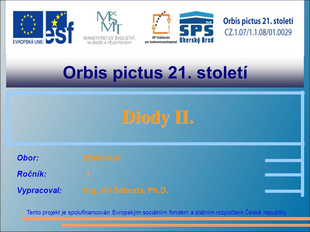 Orbis pictus 21. století Diody II.