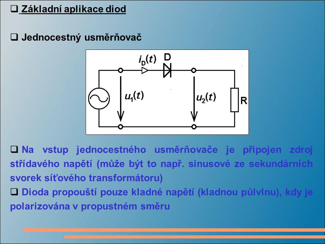 Základní aplikace diod