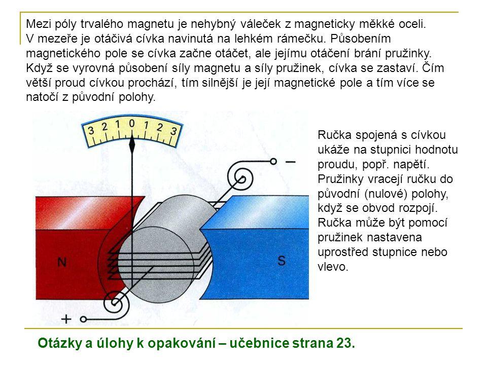 Otázky a úlohy k opakování – učebnice strana 23.
