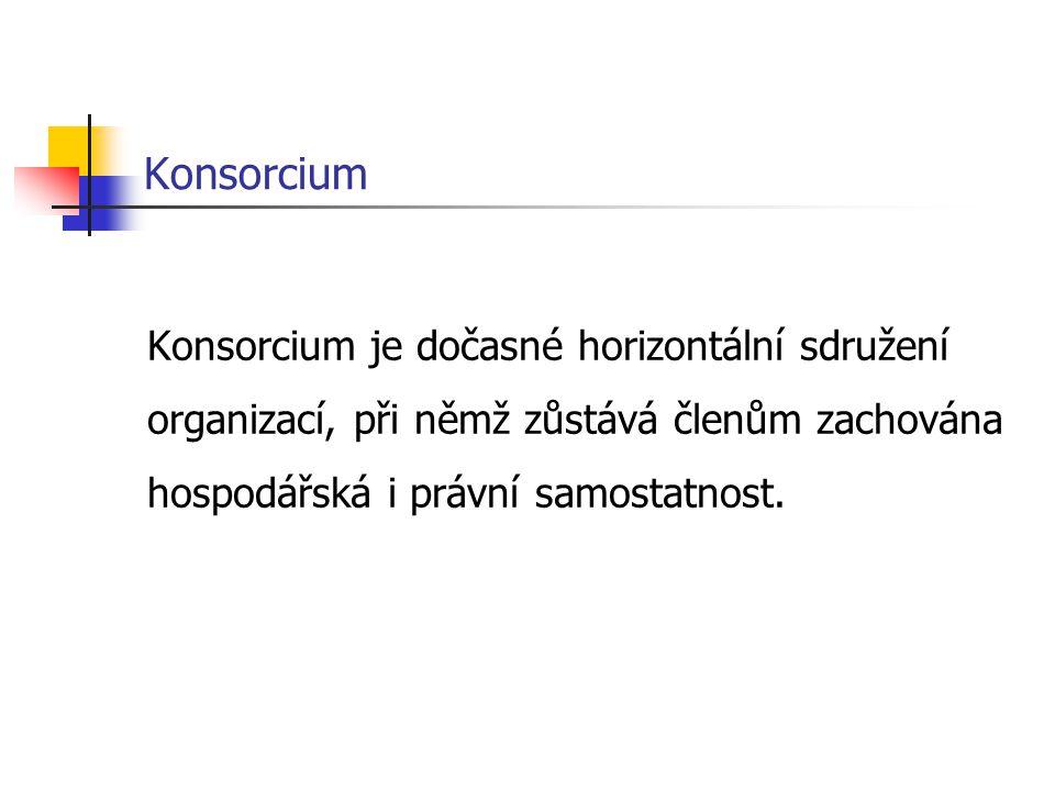 Konsorcium Konsorcium je dočasné horizontální sdružení