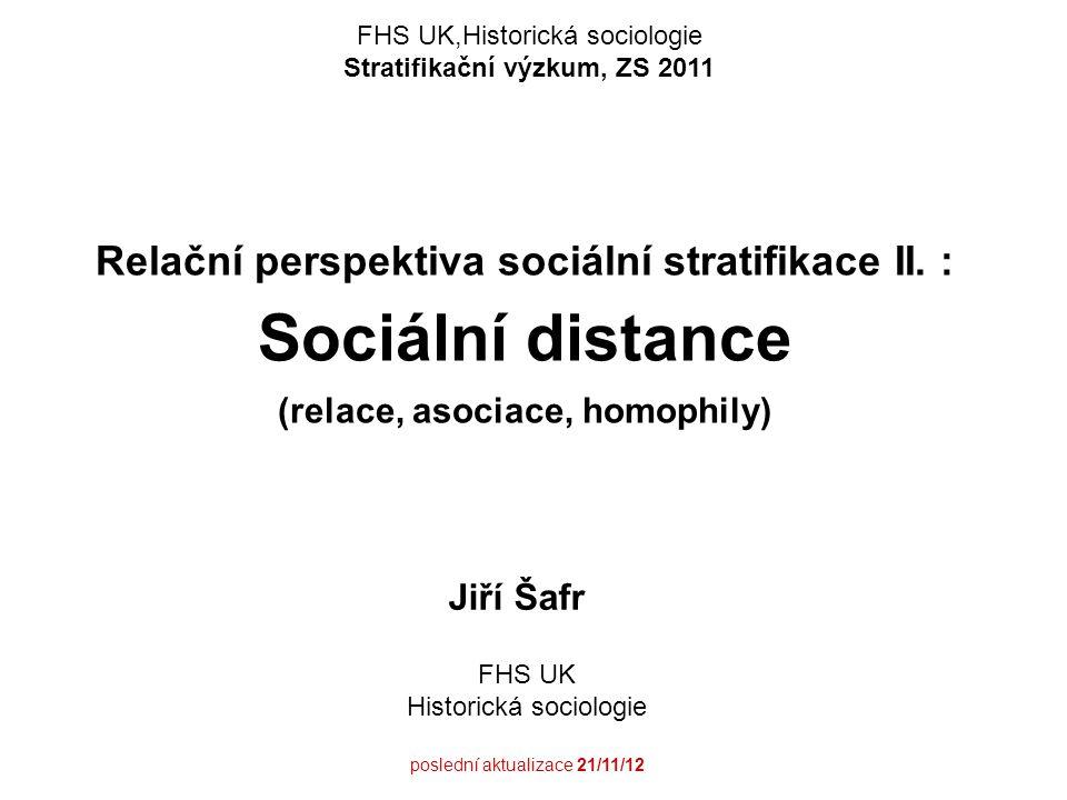 Stratifikační výzkum, ZS 2011