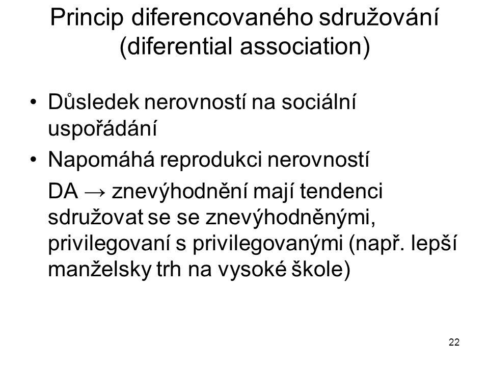 Princip diferencovaného sdružování (diferential association)