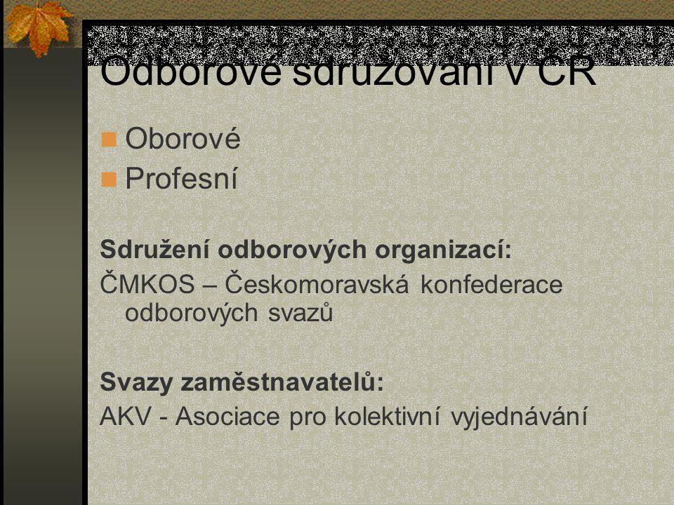 Odborové sdružování v ČR