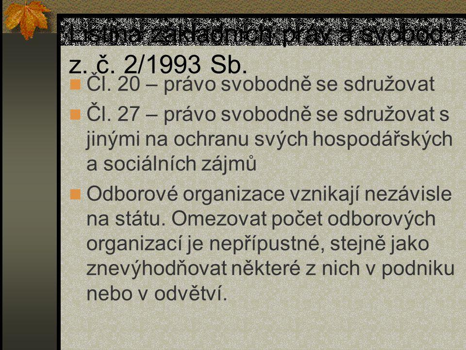 Listina základních práv a svobod, z. č. 2/1993 Sb.