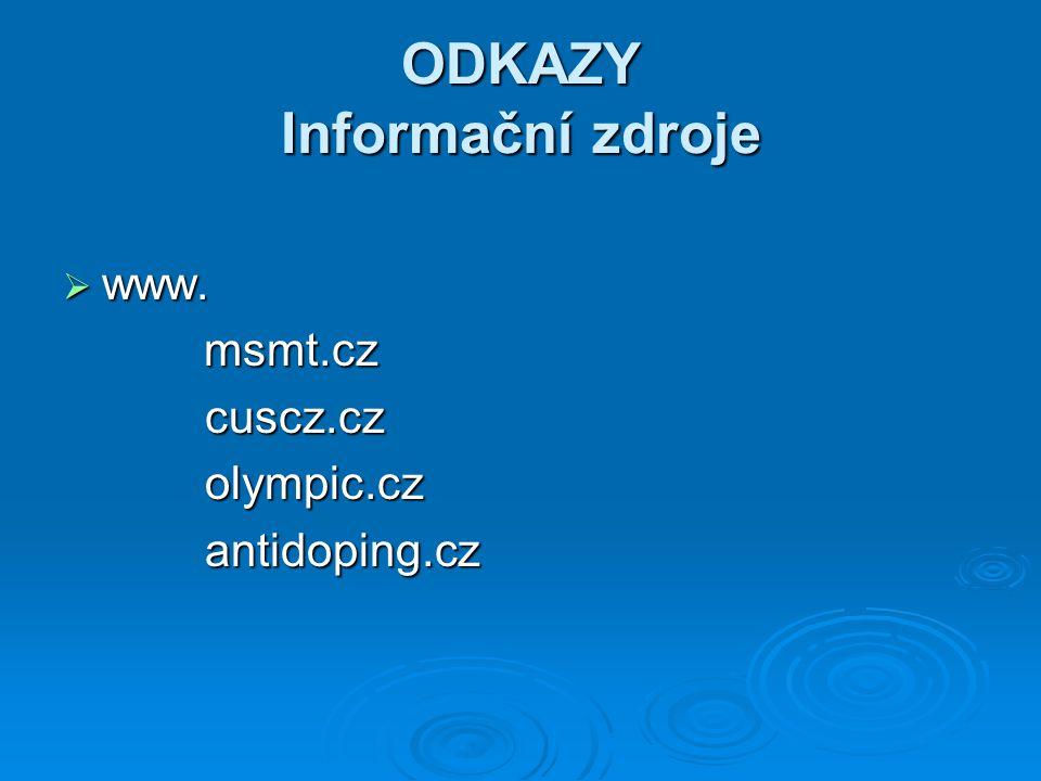 ODKAZY Informační zdroje