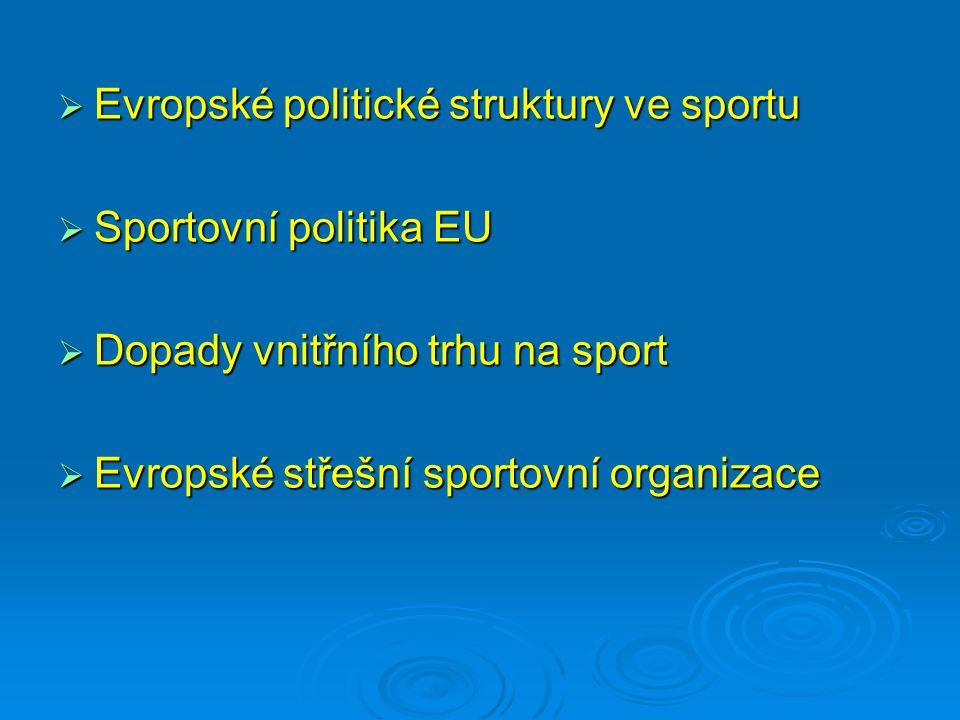 Evropské politické struktury ve sportu