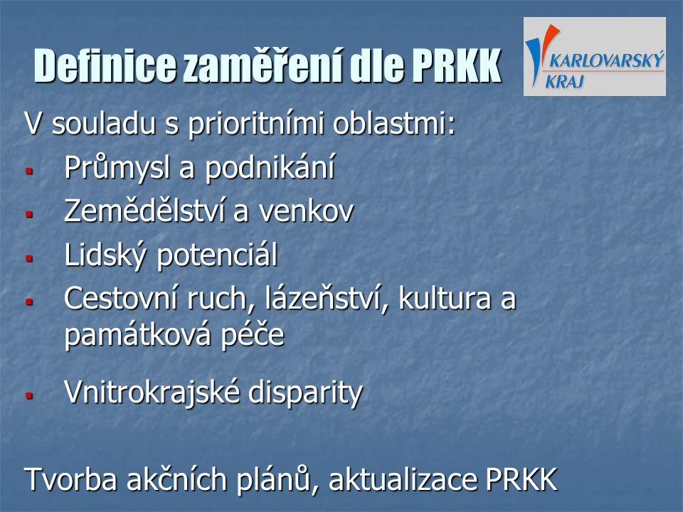 Definice zaměření dle PRKK