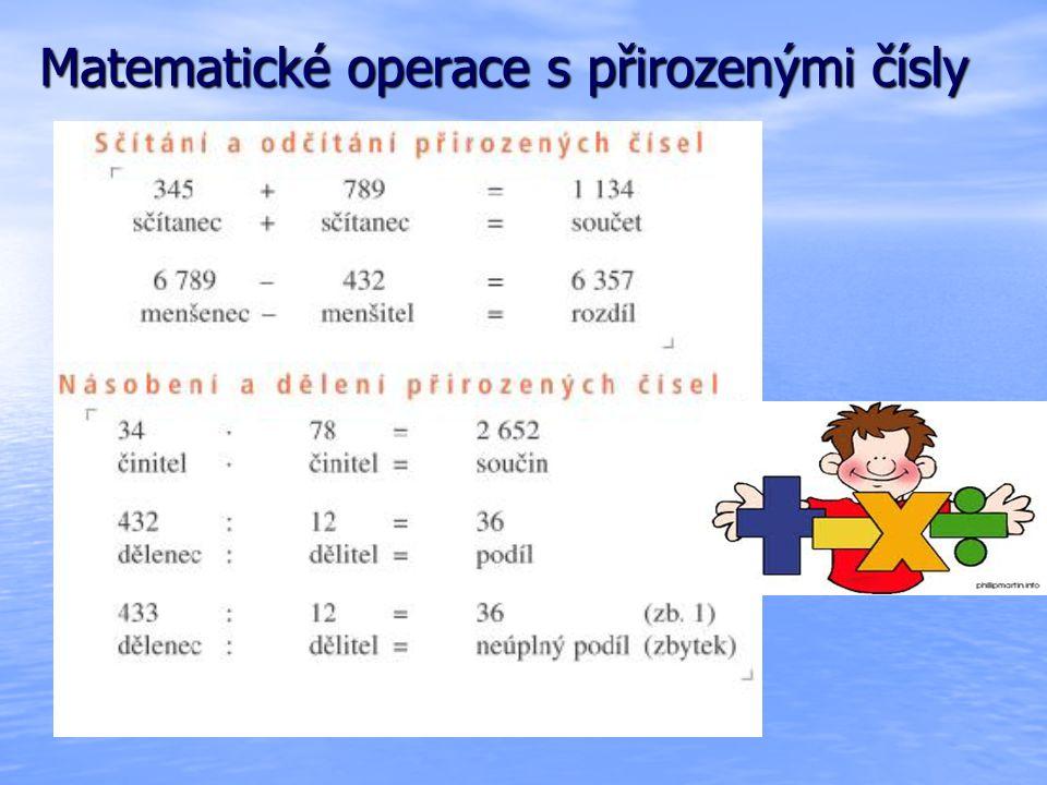 Matematické operace s přirozenými čísly