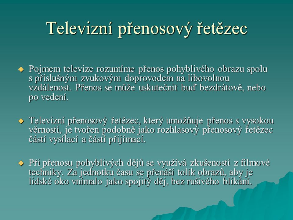 Televizní přenosový řetězec