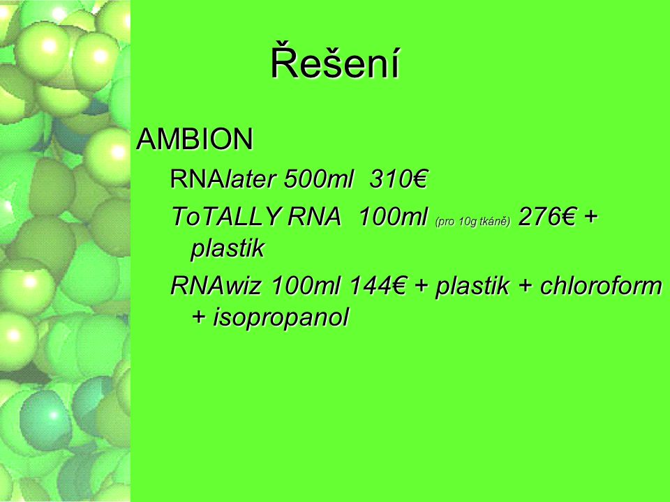 Řešení AMBION RNAlater 500ml 310€