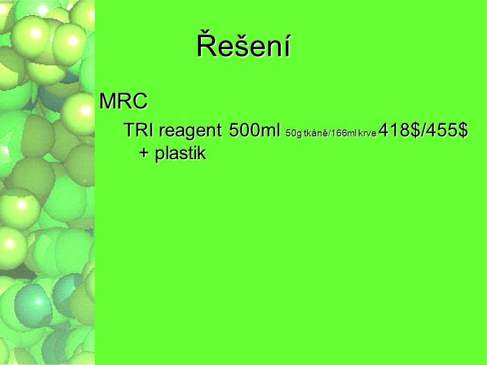 Řešení MRC TRI reagent 500ml 50g tkáně/166ml krve 418$/455$ + plastik