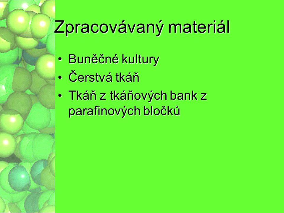 Zpracovávaný materiál