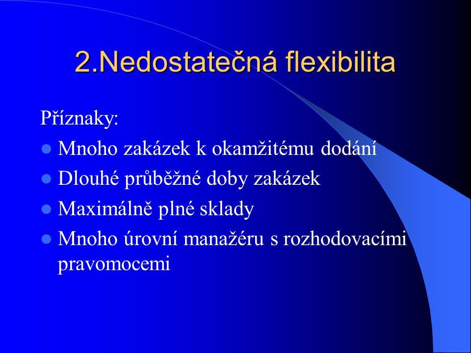 2.Nedostatečná flexibilita