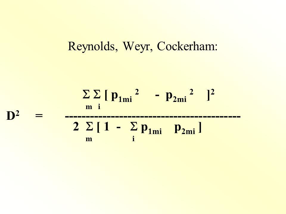 Reynolds, Weyr, Cockerham: