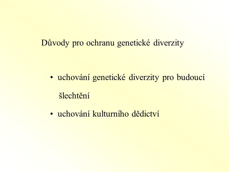 Důvody pro ochranu genetické diverzity