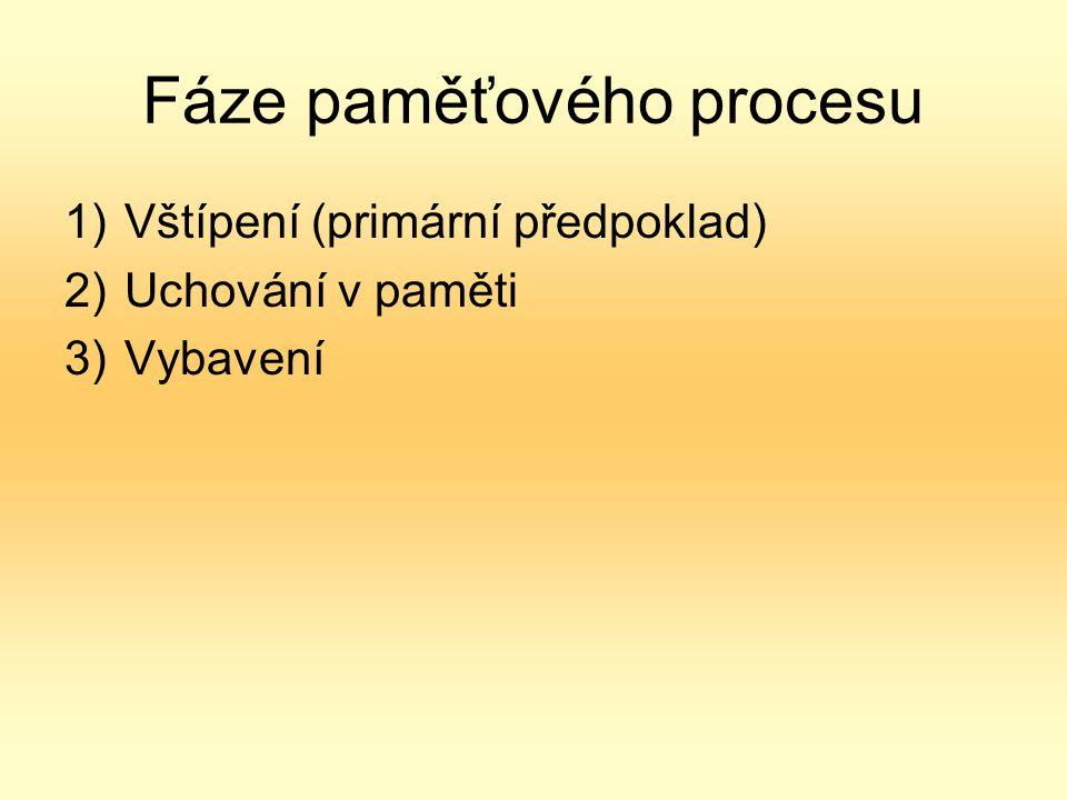 Fáze paměťového procesu