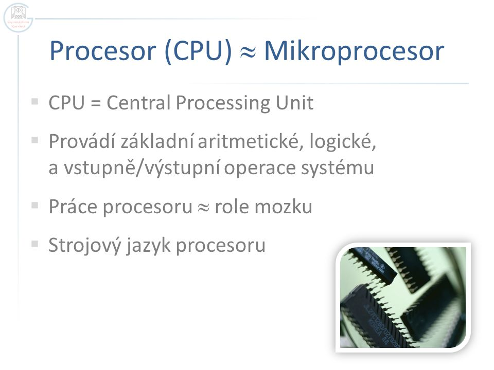 Procesor (CPU)  Mikroprocesor