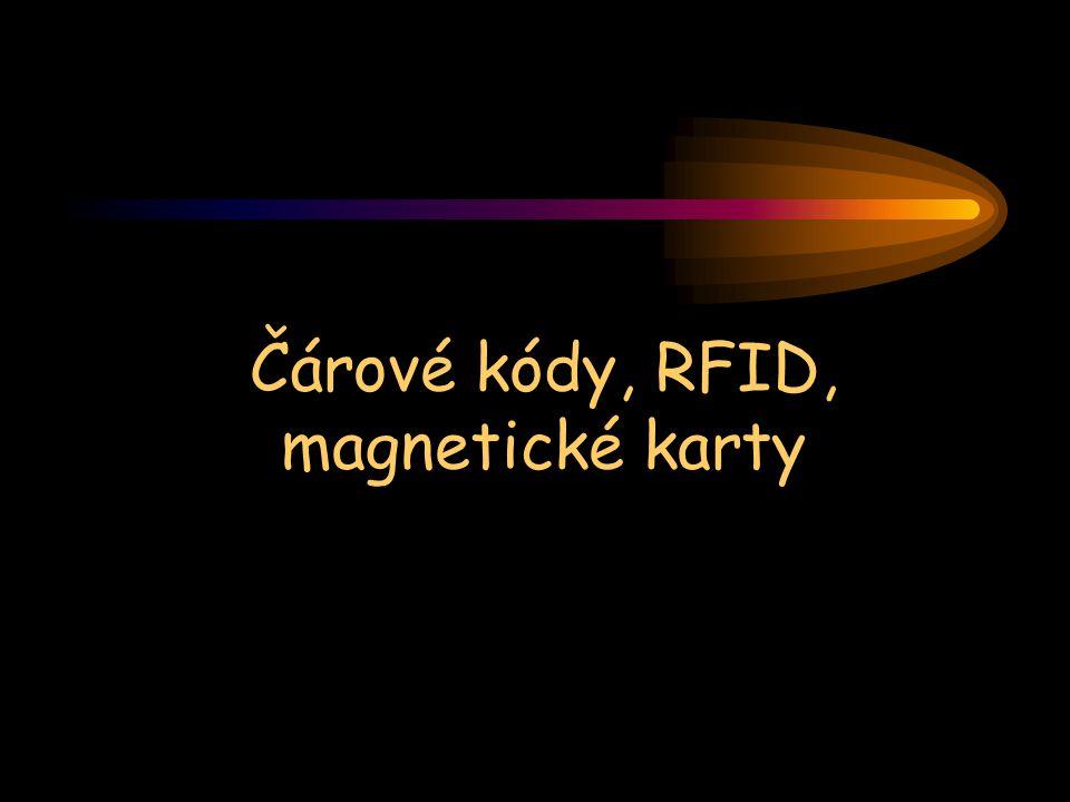 Čárové kódy, RFID, magnetické karty