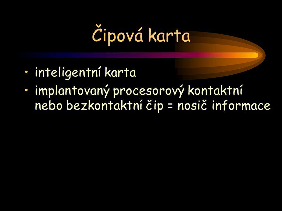 Čipová karta inteligentní karta