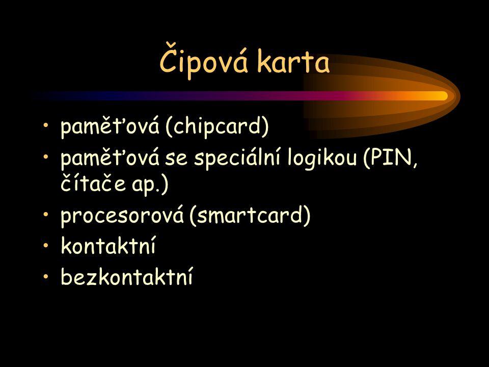 Čipová karta paměťová (chipcard)
