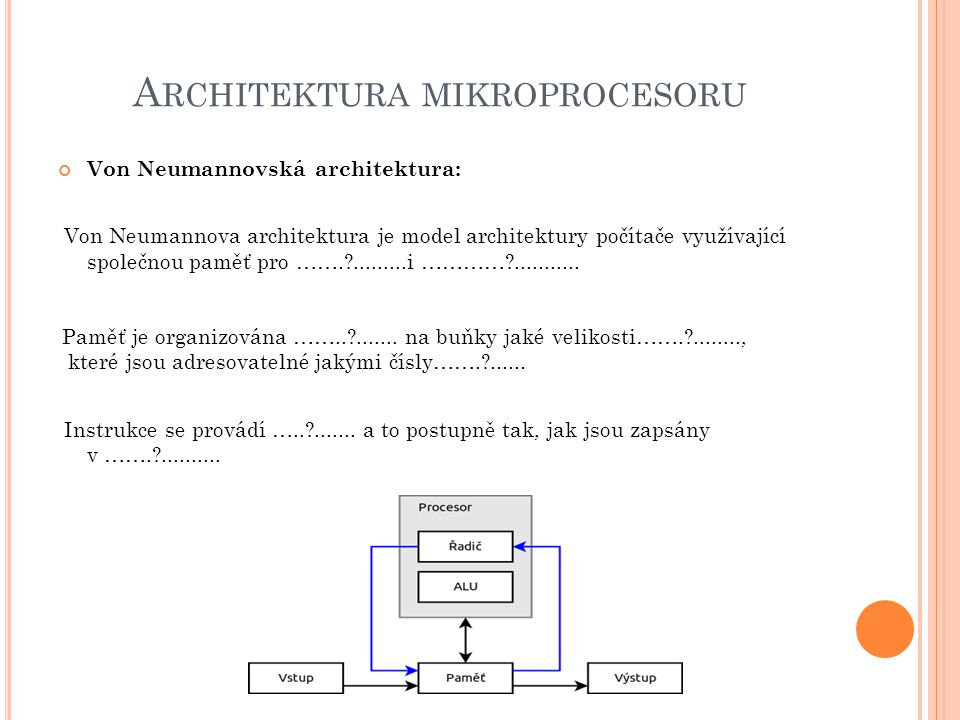 Architektura mikroprocesoru