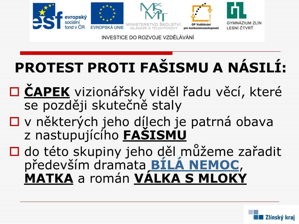 PROTEST PROTI FAŠISMU A NÁSILÍ: