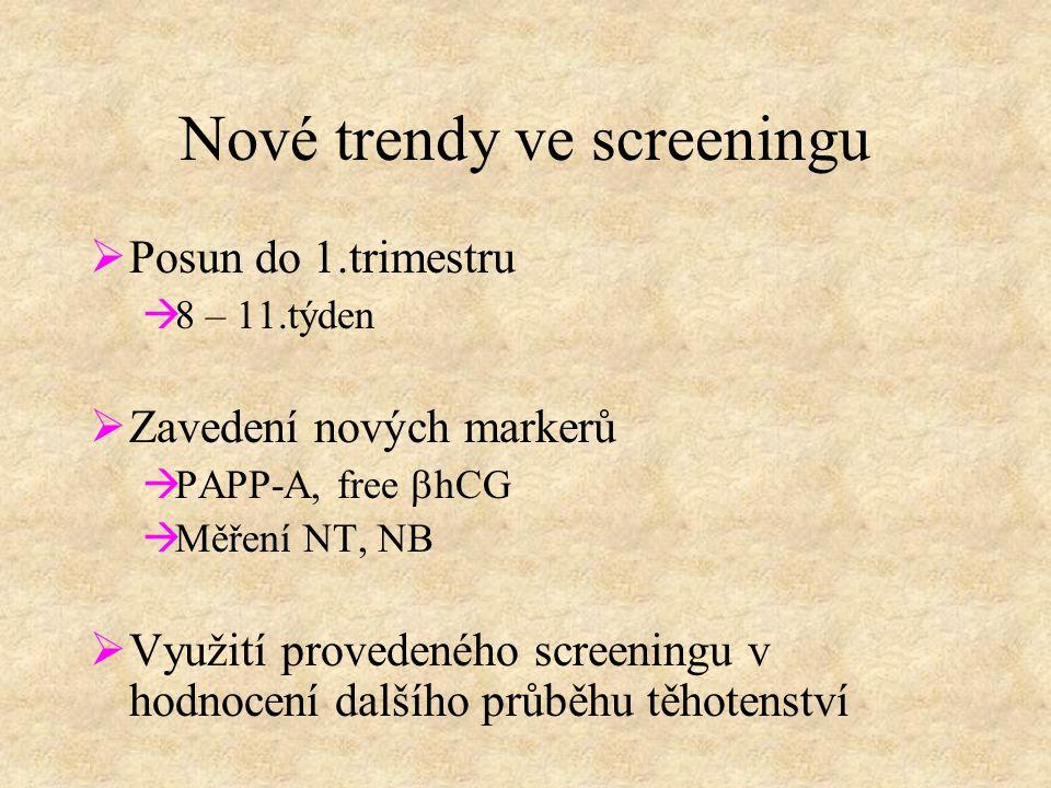 Nové trendy ve screeningu