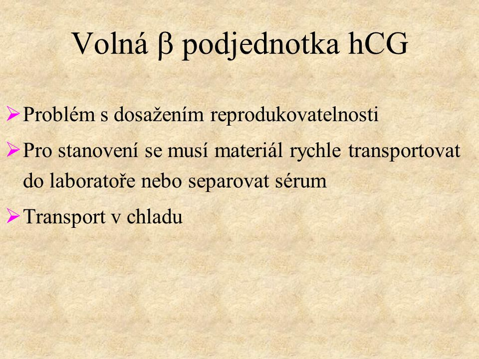 Volná b podjednotka hCG