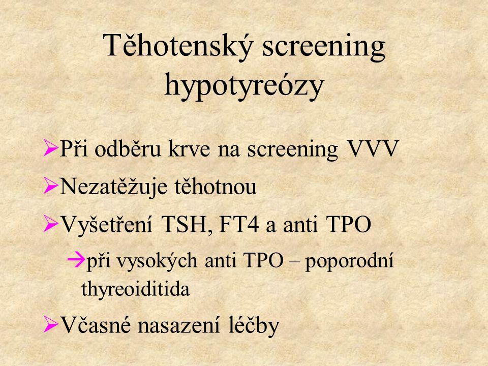 Těhotenský screening hypotyreózy