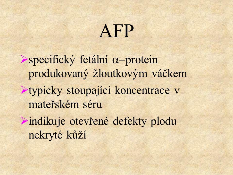 AFP specifický fetální a-protein produkovaný žloutkovým váčkem