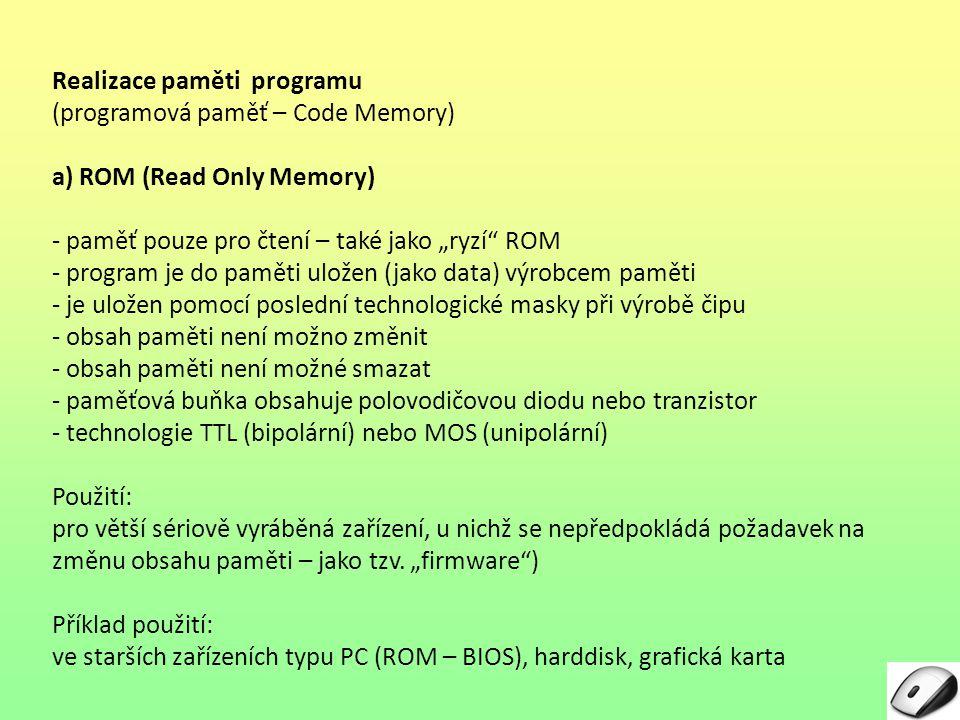 Realizace paměti programu