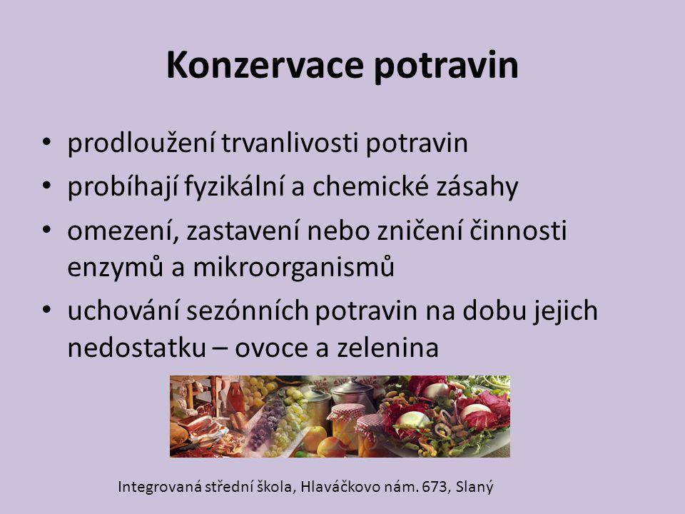 Konzervace potravin prodloužení trvanlivosti potravin