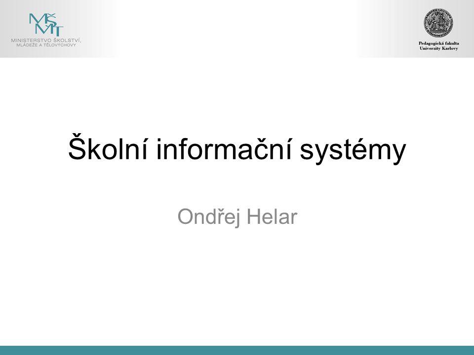 Školní informační systémy