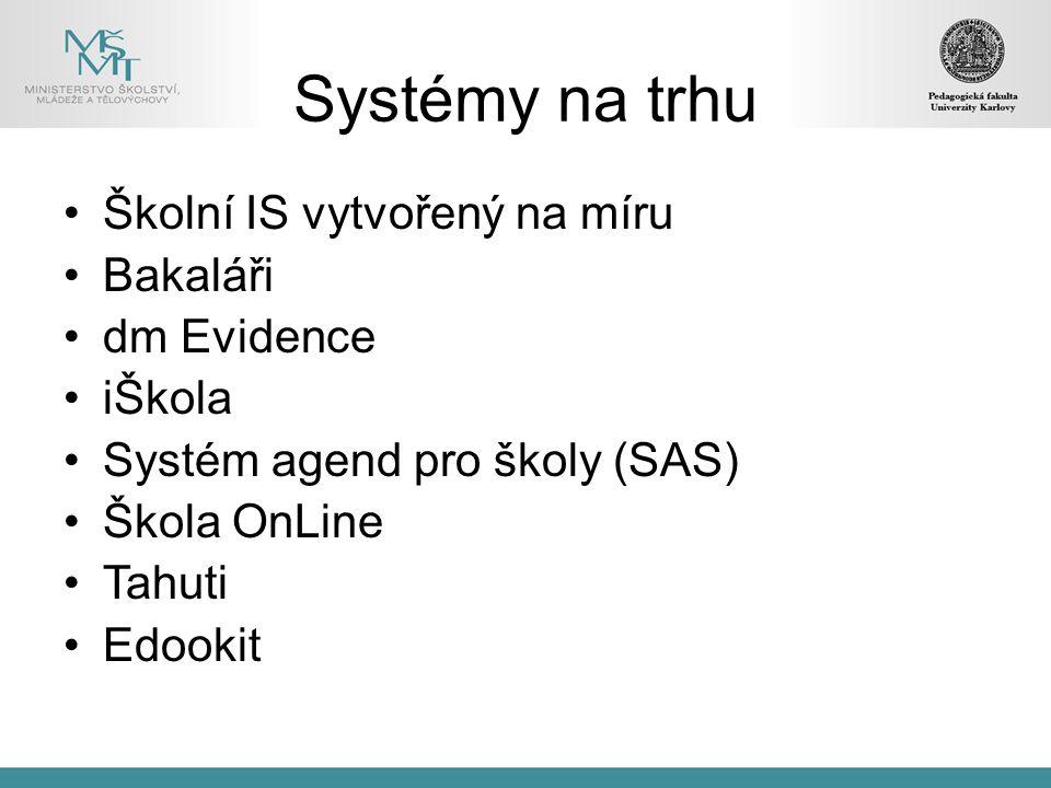 Systémy na trhu Školní IS vytvořený na míru Bakaláři dm Evidence