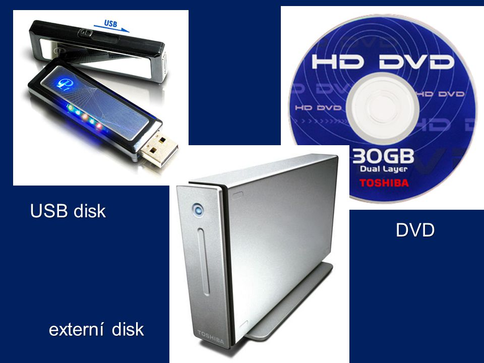 USB disk DVD externí disk