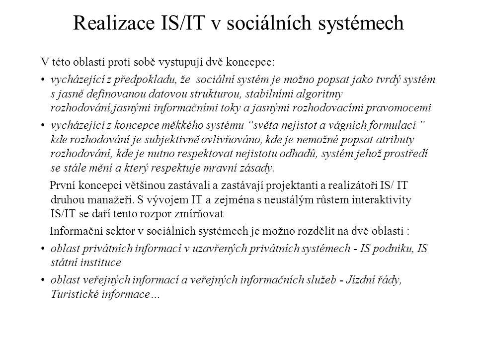 Realizace IS/IT v sociálních systémech