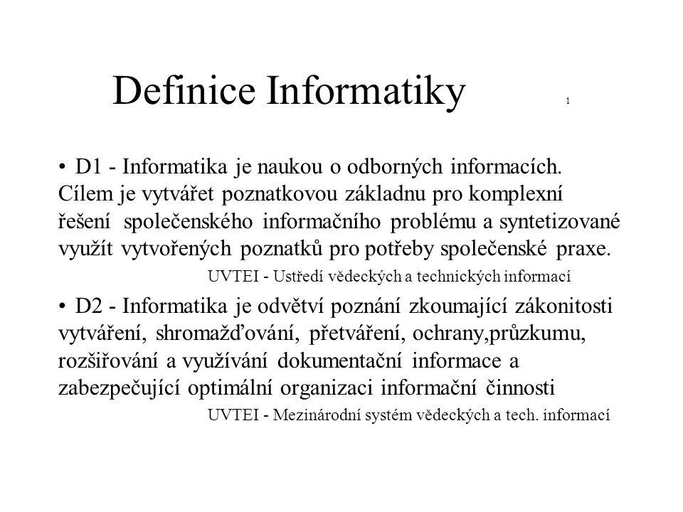Definice Informatiky 1