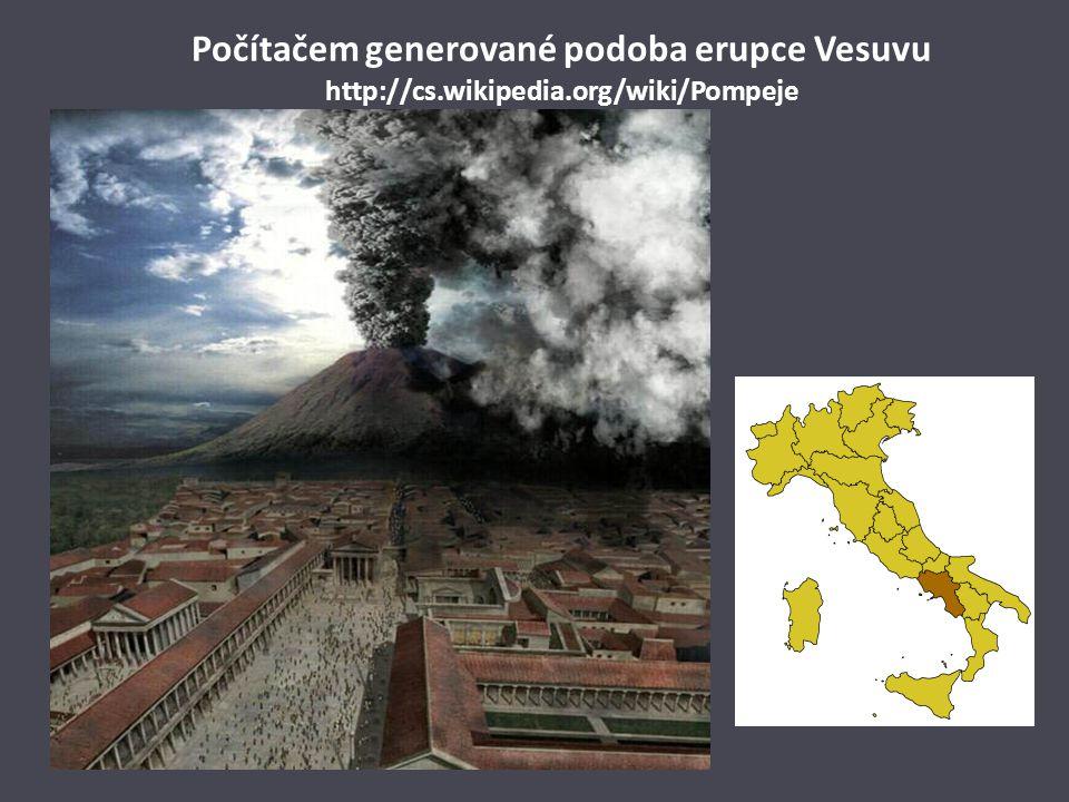 Počítačem generované podoba erupce Vesuvu http://cs. wikipedia