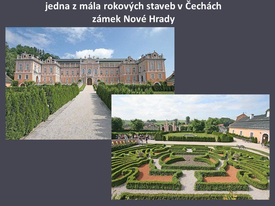 jedna z mála rokových staveb v Čechách zámek Nové Hrady