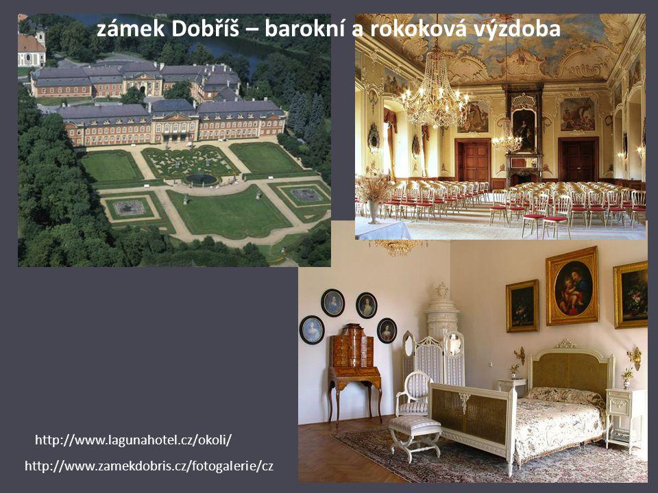 zámek Dobříš – barokní a rokoková výzdoba