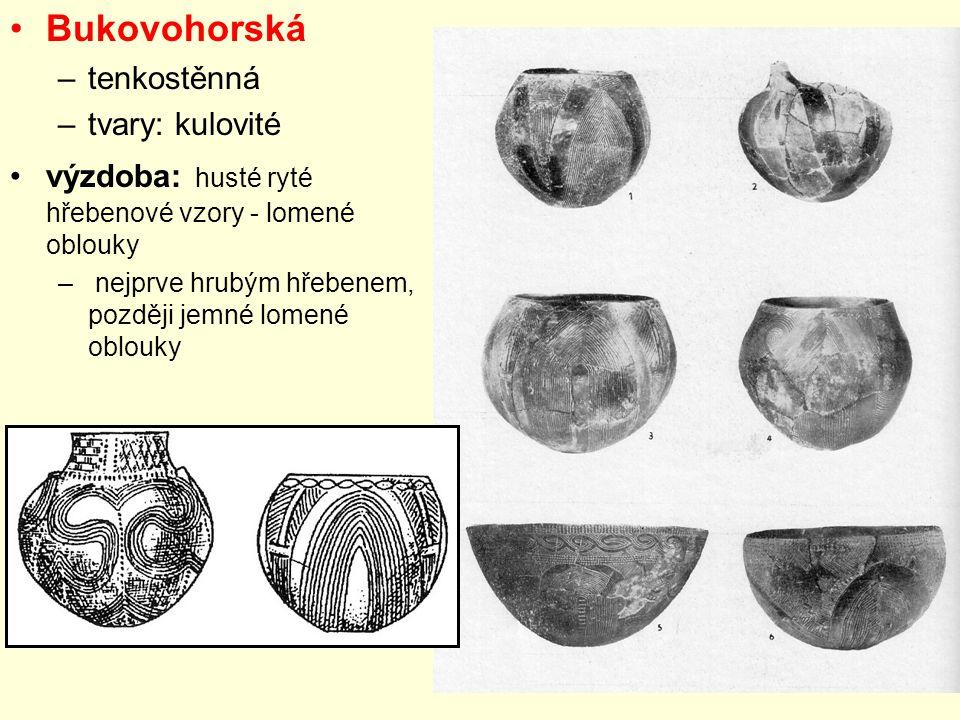 Bukovohorská tenkostěnná tvary: kulovité