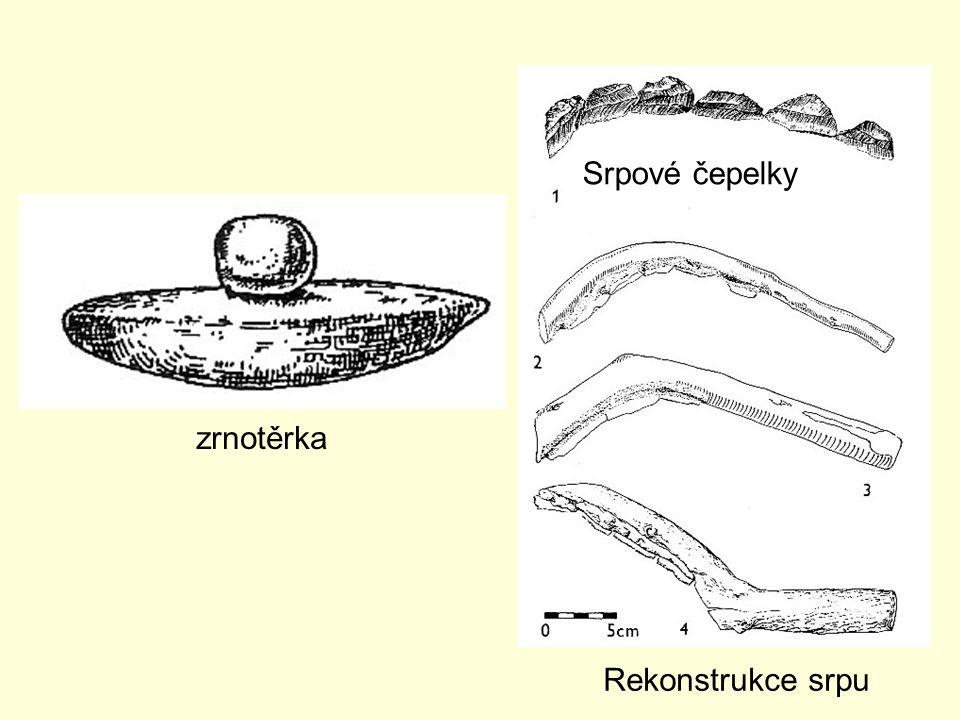 Srpové čepelky zrnotěrka Rekonstrukce srpu