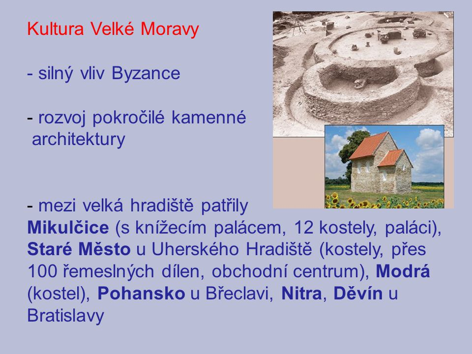 rozvoj pokročilé kamenné architektury